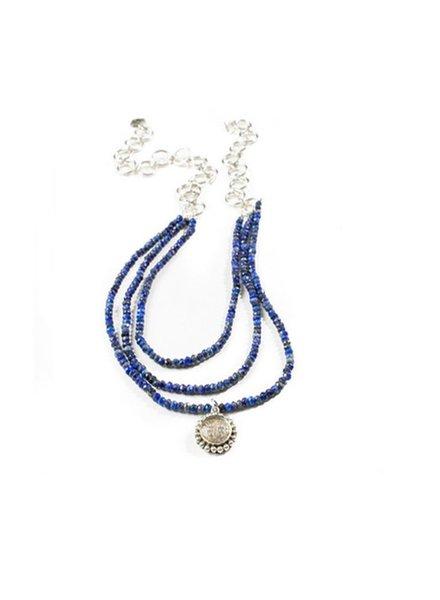 VSA Designs Piccolo Lux Magdalena In Lapis & Silver