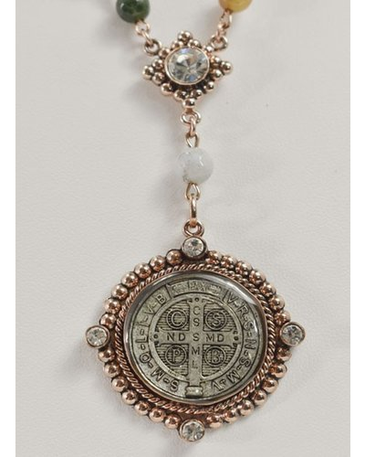 Virgins Saints & Angels M Lux Rosary In Obsidian