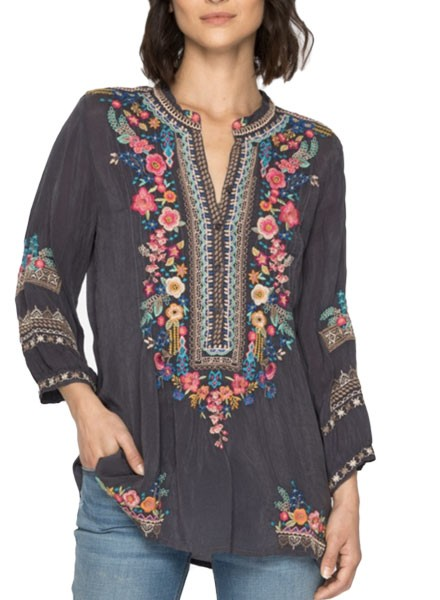Johnny Was Sarabeth Tunic In Onyx
