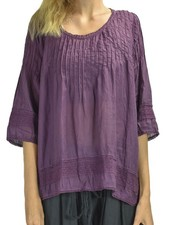J.P. & Mattie Seam Lace Top In Aubergine