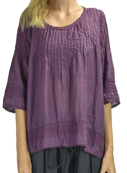 J.P. & Mattie J.P. & Mattie Seam Lace Top In Aubergine