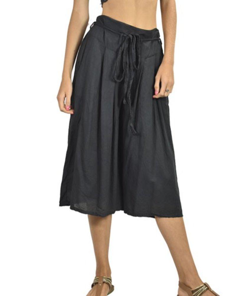 J.P. & Mattie Cropped Bedhead Pocket Pants In Black