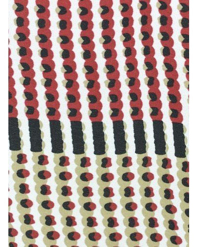 Renuar's Dots & Dash Blouse In Crimson