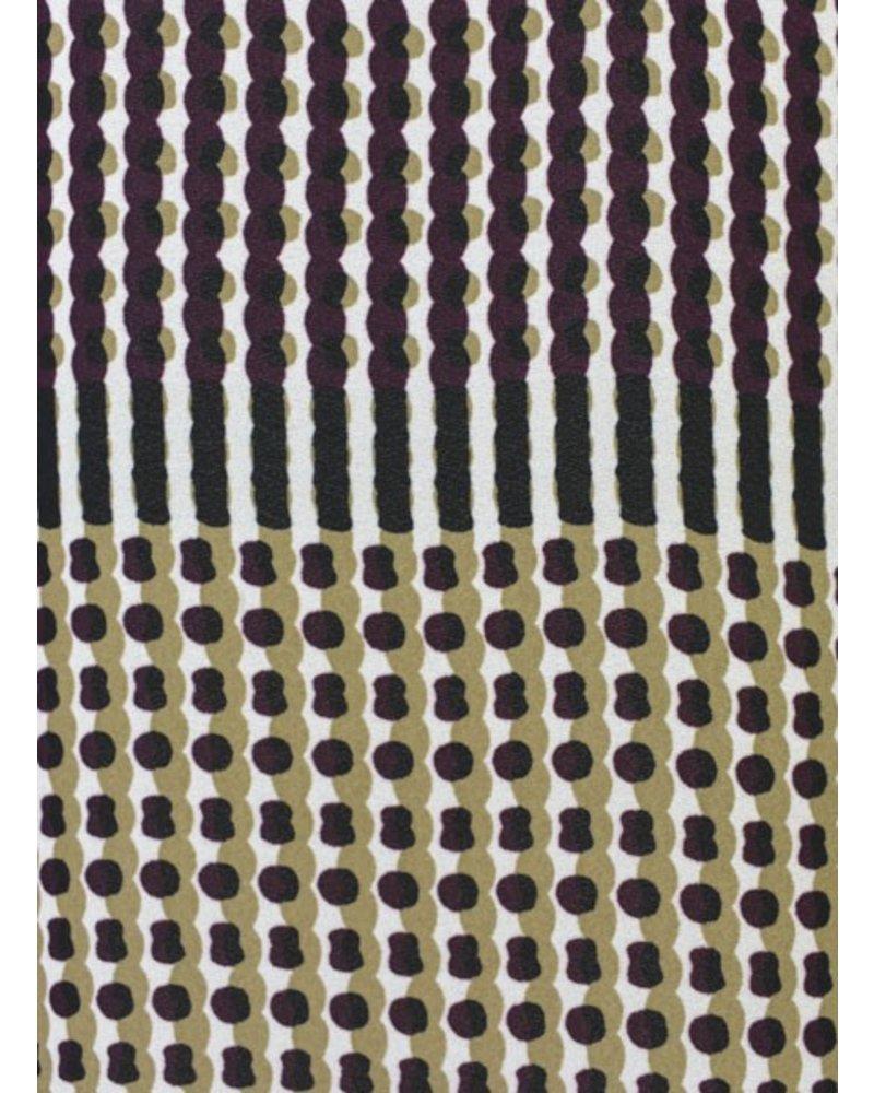 Renuar's Dots & Dash Blouse In Grape