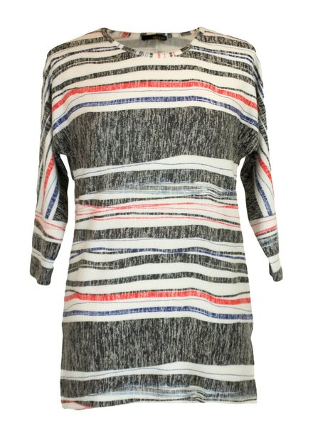 Wrapped in Stripes Knit Top in Electric Blue