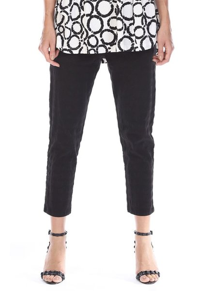 Pull On Stretch Crop Pants From Terra In Black