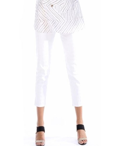Pull On Stretch Crop Pants From Terra In White