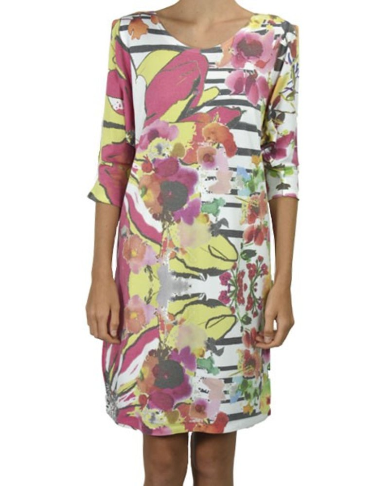 Cold Shoulder Flowers On The Fence Dress