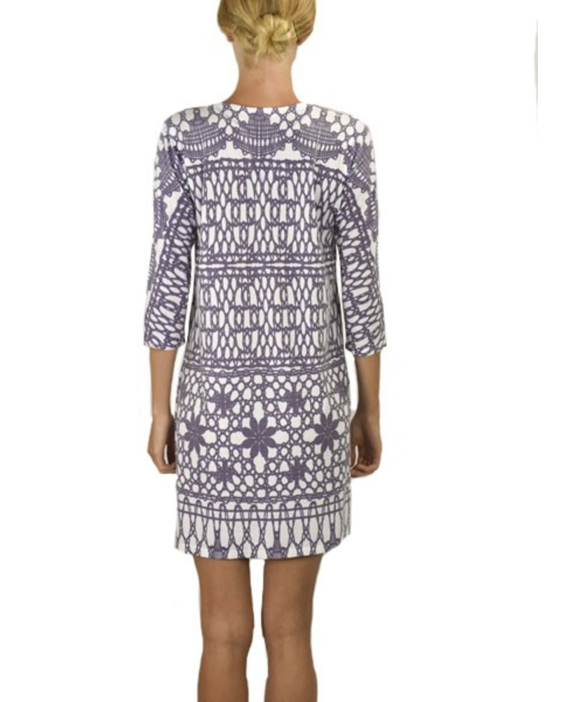 Lavender Lattice Dress