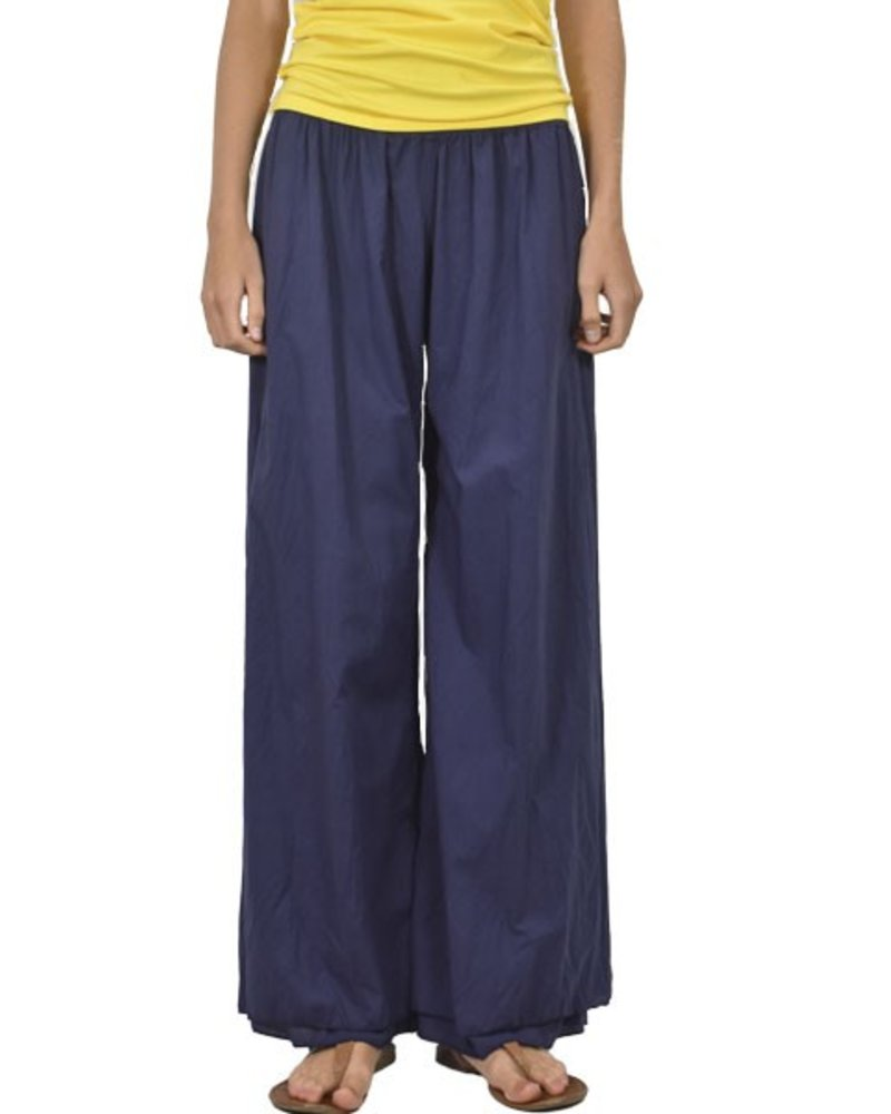 Cotton Voil Easy Pant In Navy