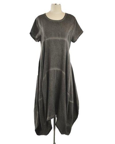 Washed Black Tulip Dress
