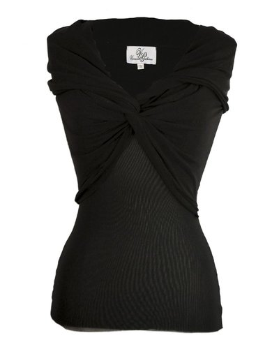 Petit Pois Sleeveless Twisted Up In Black