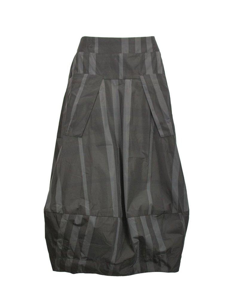 Midtown Skirt In Black & Grey Plaid