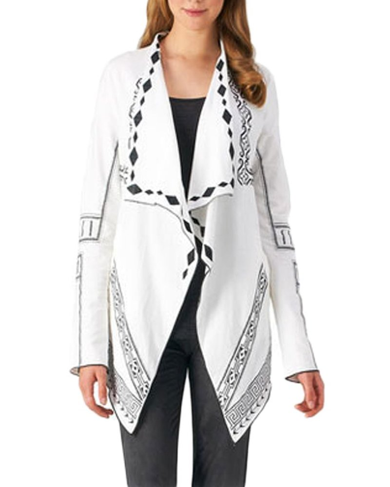 The Waterfall Jacket In White