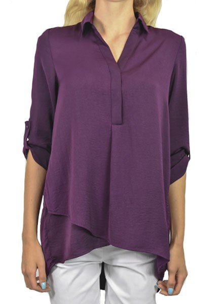 Renuar's Soft And Beautiful Blouse In Grape