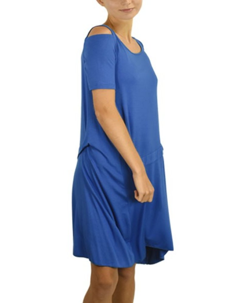 Comfy's Lorraine Dress In Estate Blue