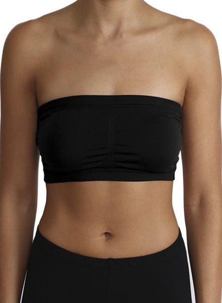 Lace Back Bandeau Bra In Black
