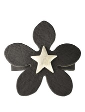 Streets Ahead Black Star Flower Leather Bracelet