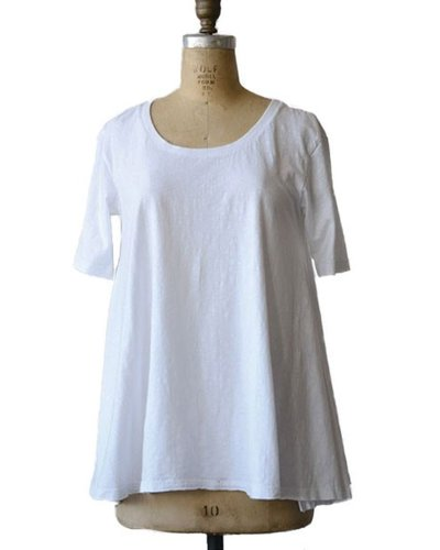 Cotton A-Line Poppy T Shirt White