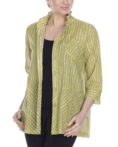 The Highway Jacket Top In Kiwi & White