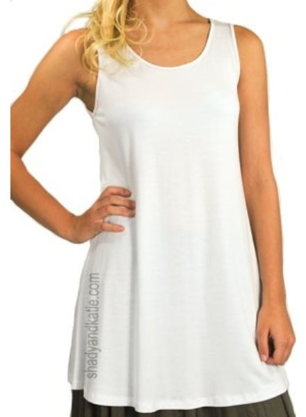 Comfy U.S.A. Comfy Sleeveless Tunic Top In White