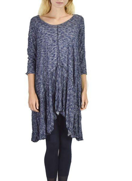 Comfy U.S.A. Comfy's Tina Tunic In Navy Knit