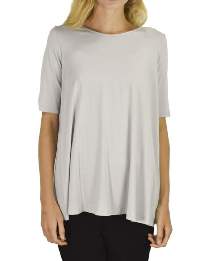 Comfy Elbow Sleeve Tunic In Zinc