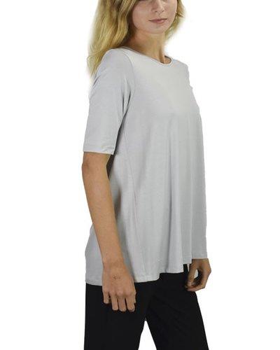 Comfy Elbow Sleeve Tunic In Zinc