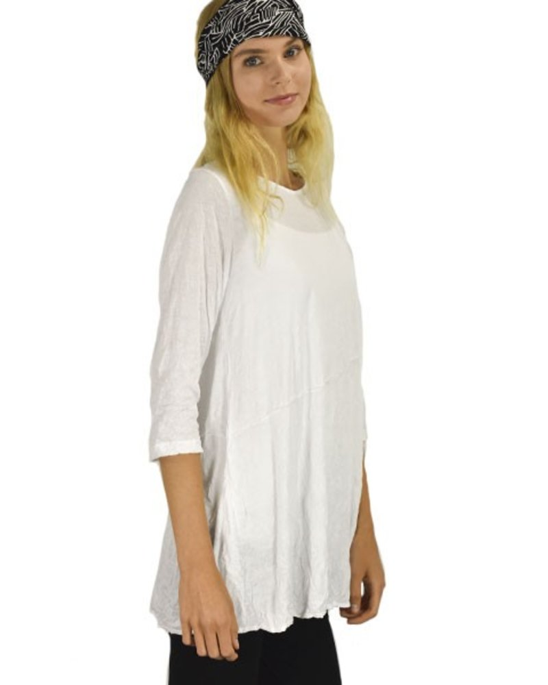 Comfy's Libby Tunic In White Crinkle