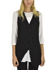 Comfy's Zoey Vest In Crinkle Black