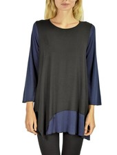 Comfy's Krista Tunic In Black & Navy