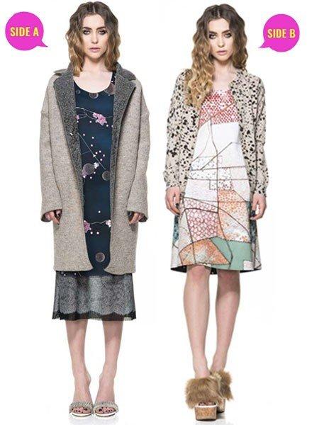 "Animapop Reversible ""A"" Kimono Dress"
