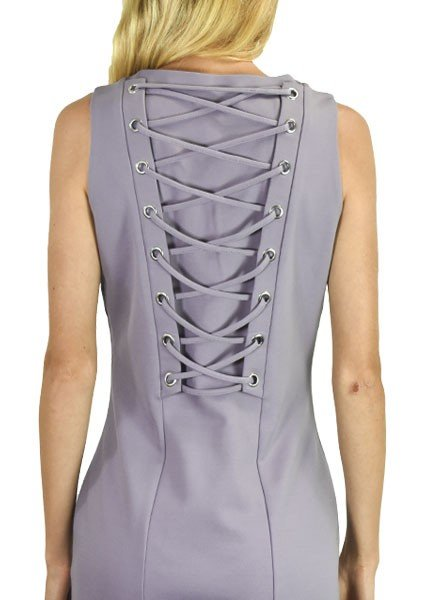Forest Lilly Lace Up Lavender Dress