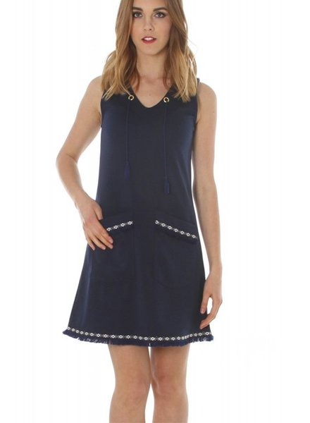 The Sutra Dress In Navy