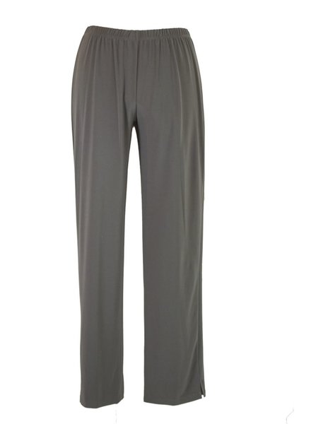 Comfy U.S.A. Sun Kim's Long Slim Pants In Ash