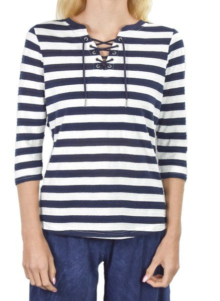 Sassy Sailor Top With Navy Stripes