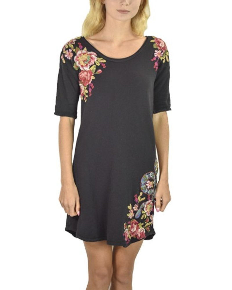Johnny Was Malui Dropped Shoulder Tunic In Black