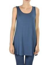 Comfy U.S.A. Comfy Sleeveless Tunic In Tuxedo Blue