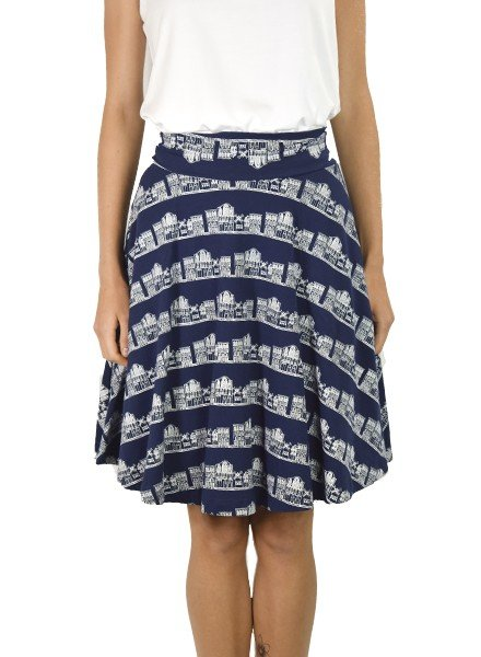 Carnaby Skirt in French Quarter Print