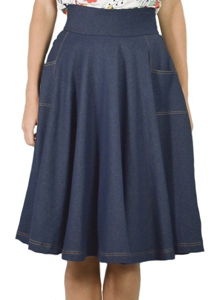 Sojourn Skirt in Denim