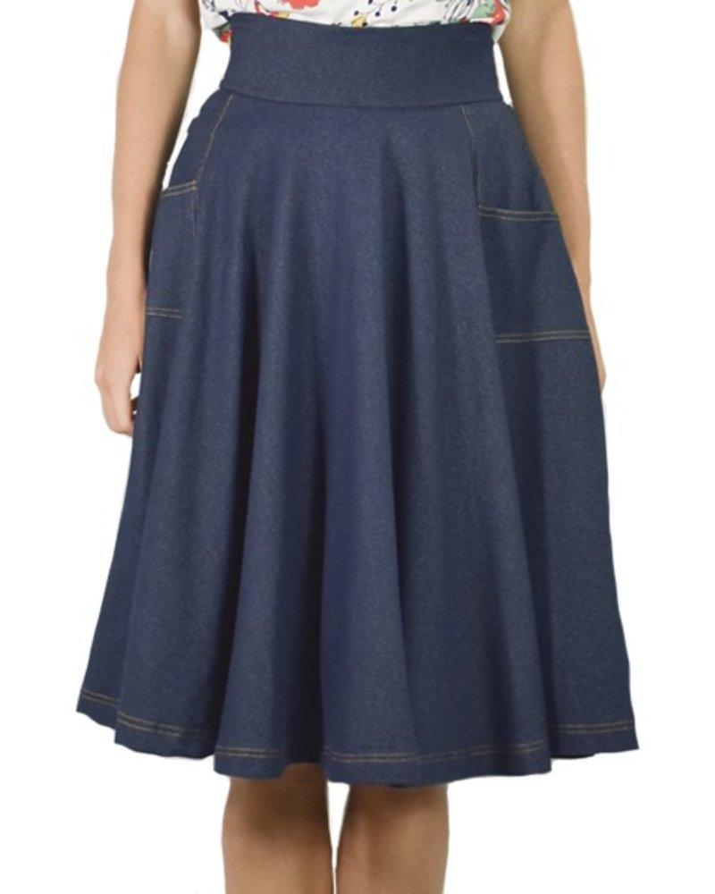 Sojourn Skirt in Denim
