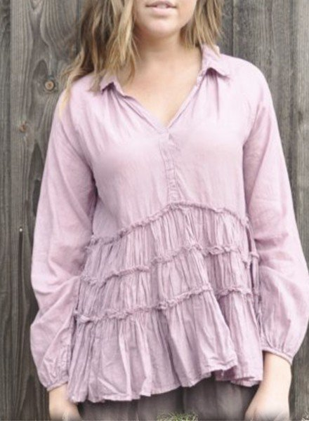 J.P. & Mattie Renee Ruffle Tunic In Orchid