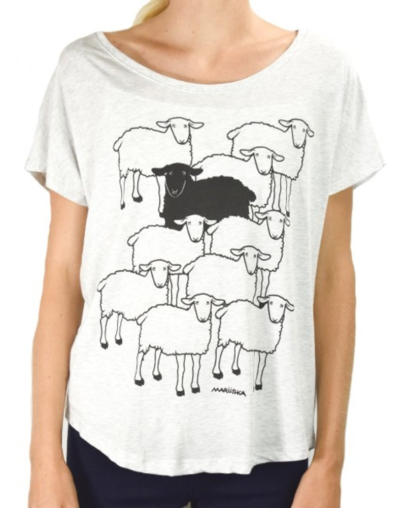 Marushka's Black Sheep On Heather Grey