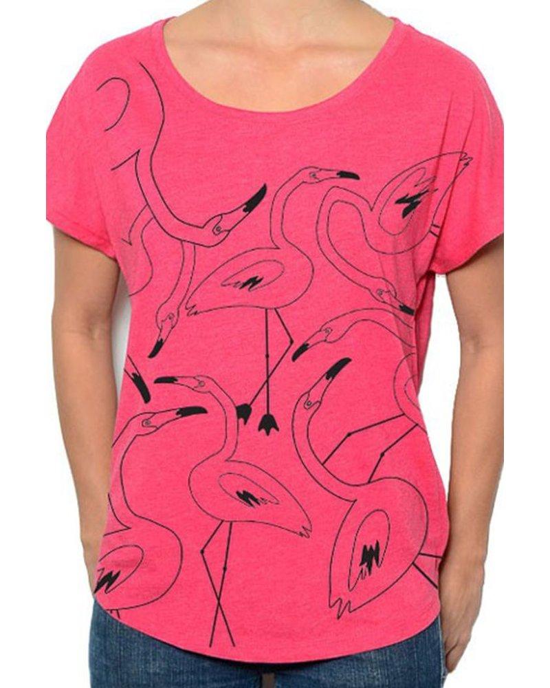 Marushka's Flamingo Flock In Hot Pink