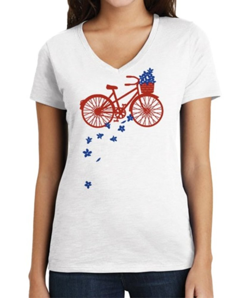 Marushka's Petal Bike In Red and Blue on White