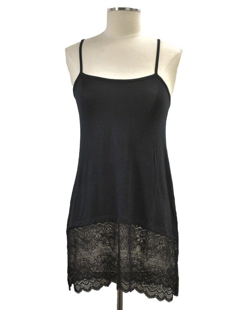 Lace Extender Slip In Black