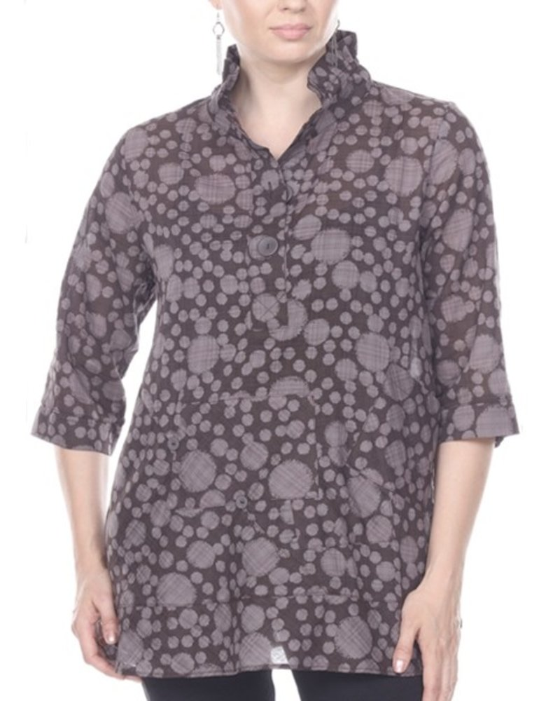 Drop On Drop Shirt In Dark Taupes