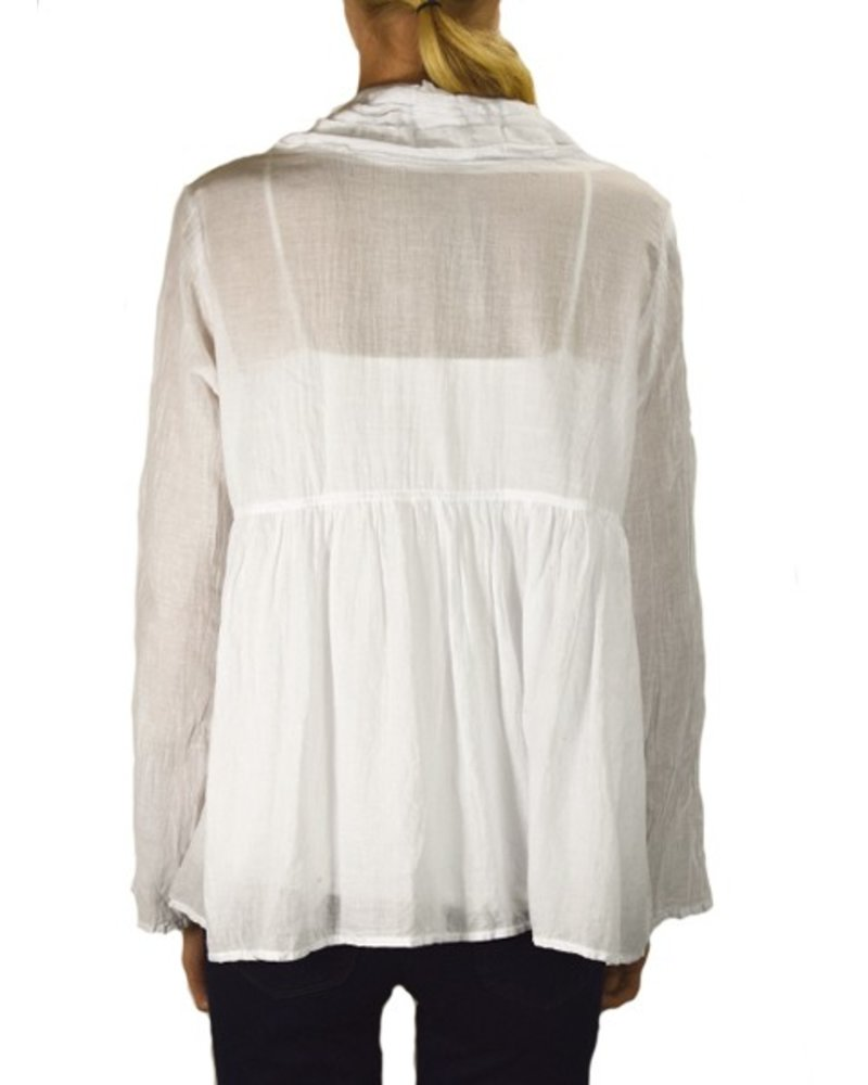 J.P. & Mattie Tiny Tuck Pocket Tunic In White