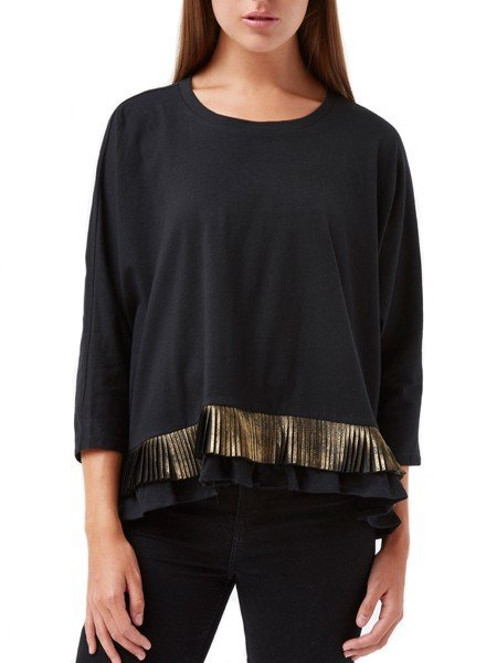 Traffic People's Blatantly Bold Top In Black