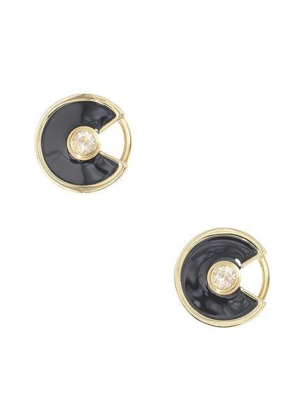 Dancing Disco Earrings In Black